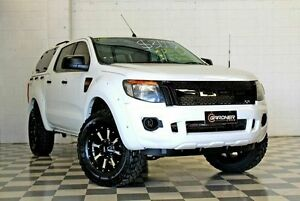 2013 Ford Ranger PX XL 2.2 (4x4) White 6 Speed Manual Crewcab Burleigh Heads Gold Coast South Preview