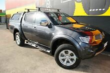 2011 Mitsubishi Triton MN MY11 GLX-R Double Cab Graphite Grey 5 Speed Manual Utility Melrose Park Mitcham Area Preview