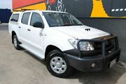 2010 Toyota Hilux KUN26R MY10 SR Glacier White 5 Speed Manual Utility Melrose Park Mitcham Area Preview