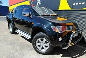 2006 Mitsubishi Triton ML MY07 GLX-R Double Cab Cosmic Black 5 Speed Manual Utility Melrose Park Mitcham Area Preview
