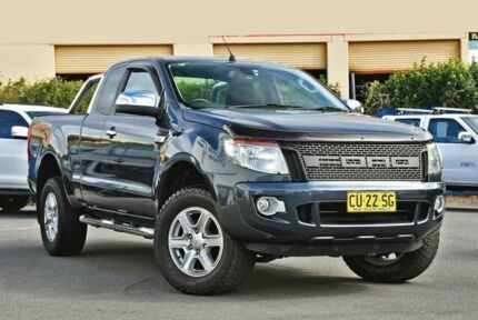 2014 Ford Ranger PX XLT Super Cab Grey 6 Speed Sports Automatic Utility Chinderah Tweed Heads Area Preview