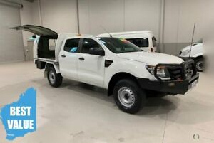 2013 Ford Ranger PX XL Double Cab White 6 Speed Manual Cab Chassis Kenwick Gosnells Area Preview