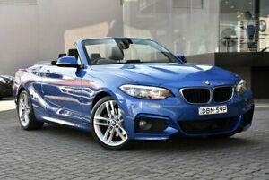 2015 BMW 2 Series F23 220i M Sport Blue 8 Speed Sports Automatic Convertible Parramatta Parramatta Area Preview
