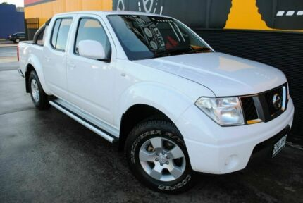 2010 Nissan Navara D40 ST Super White 6 Speed Manual Utility Melrose Park Mitcham Area Preview