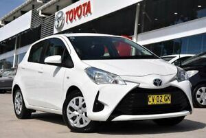 2019 Toyota Yaris NCP130R Ascent White 4 Speed Automatic Hatchback Castle Hill The Hills District Preview