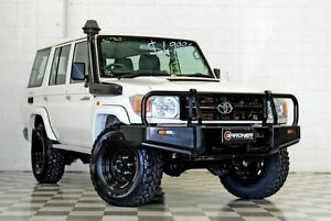 2012 Toyota Landcruiser VDJ76R MY12 Update Workmate (4x4) White 5 Speed Manual Wagon Burleigh Heads Gold Coast South Preview