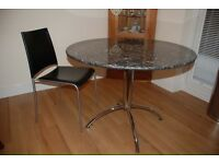 Granite table & Leather chairs - top quality Italian.