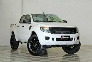 2012 Ford Ranger PX XL Hi-Rider White 6 Speed Auto Activematic Dual Cab Burleigh Heads Gold Coast South Preview