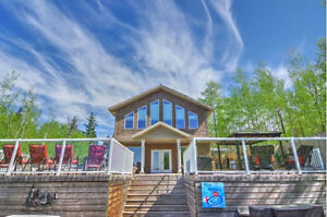 120' LAKE FRONT HOUSE WITH BEAUTIFUL SAND BEACH - LAC SANTE, AB