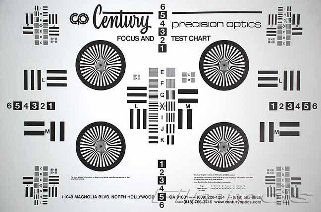 New Century Precision Optics Lens Chart Kit (Large + Small) 2 Charts Focus Tests