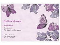 Home carer available