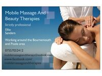 Mobile massage and beauty therapy treatments to your door. Bournemouth and Poole