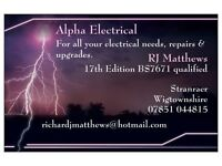 All electrical services, consumer unit changes, fault finding, electrical works