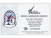 Mobile barbering service