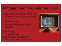 Vintage Sound Repair Services: guitar/bass amplifier/vintage radio and hifi repairs