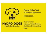 Mobile Dog Groomer (Hydro Dogz Dog Grooming) Glasgow,Clydebank & Surrounding Book Now For Xmas