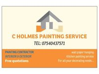 C HOLMES PAINTING SERVICE , PAINTING CONTRACTOR, FREE QUOTATIONS, painter
