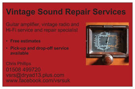 Vintage Sound Repair Services - guitar & bass amp repairs & servicing