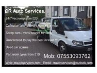 CR 24/7 Vehicle Recovery & Transportation Services