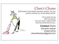 Domestic cleaner looking for work in and around Dunstable