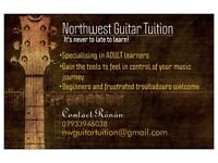 ADULT GUITAR LESSONS... IT'S NEVER TOO LATE TO LEARN!