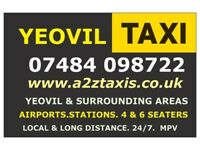 Yeovil Taxis A2Z.Yeovil Taxi service, 24/7 competitive rates. competitive service,