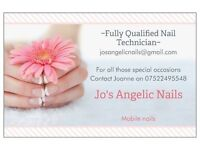 Need a nail technician? Look no further. For excellent nails contact Jo's Angelic Nails