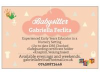 Babysitting Service- Evenings & Weekends