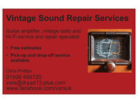 Guitar/Bass amplifier repairs and servicing