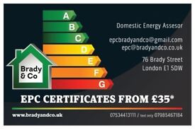 EPC CERTIFICATES FROM £35* Call Now!!!!