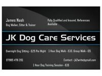 JK Dog Care Services. Dog Walking, Sitting and Training Services Provided.