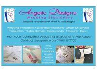 Handmade Bespoke Wedding Invitations & matching stationery BELFAST based
