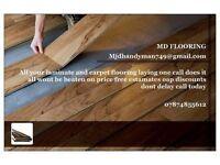Laminate flooring vinal and carpet fitter