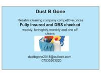 DustBGone Fully insured DBS checked domestic cleaners