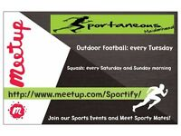 Sportaneous: Squash and Football Events