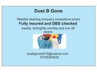 DustBgone domestic cleaners available
