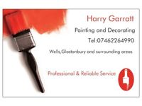 Painter and decorator Harry Garratt painting and decorating
