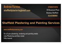 Sheffield Plastering and Painting - Plastering, Render, Painting, Lime Plaster and Lime Render