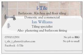 plastering i-Tile , tiling , plastering and bathroom fitting