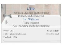 plastering i-Tile , tiling , plastering and bathroom fitting