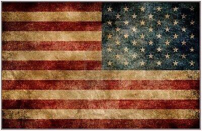 USA UNITED STATES OF AMERICA STARS AND STRIPES LARGE FLAG 5'X3' EYELETS VINTAGE