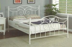 White Wrought Iron King Single Bed Frame Aspley Brisbane North East Preview