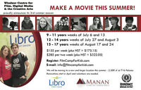 Film Day Camp for Kids and Youth - ages 9 - 17