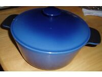 Cast Iron Casserole Round Dish - Very Heavy