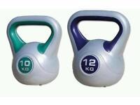 2x 12 kg Vynil Kettlebells + 1x 10 kg Vynil kettlebell