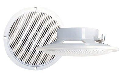 "2) NEW PYRAMID MDC5 4"" 100W 2-Way Waterproof Marine Boat Outdoor Speakers PAIR on Rummage"