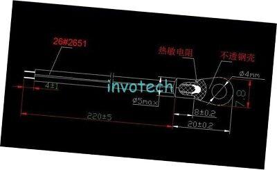 10pcs Ntc 10k 2 3950 Temperature Temp Sensor Probe Thermometer Waterproof
