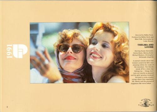 1991 UNITED INTERNATIONAL PRESSBOOK Thelma & Louise Soapdish Backdraft