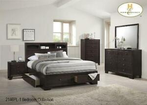 BED FRAME WITH DRAWERS | ALSO AVAILABLE - LOW PLATFORM BED WITH LIGHTS, MODERN COOL LOOKING LEATHER BED (BD-1058)