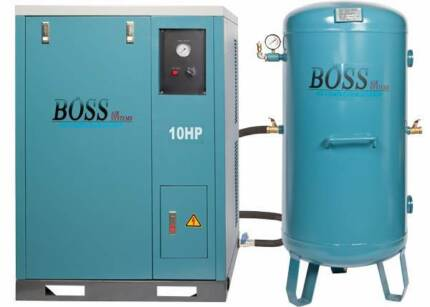 BOSS 48CFM/ 10HP Silent Air Compressor with 220L Vertical Tank